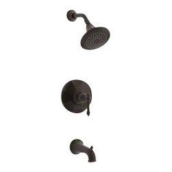 KOHLER - KOHLER Kelston Rite-Temp Pressure-Balancing Bath and Shower Faucet Trim - KOHLER K-T13492-4-2BZ Kelston Rite-Temp pressure-balancing bath and shower faucet trim in Oil-Rubbed Bronze