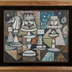 Irving Amen, Chess, Gouache - Artist:  Irving Amen, American (1918 - 2011)