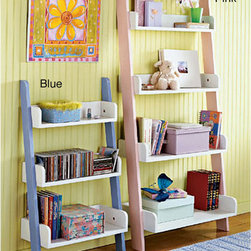Simple Living - Simple Living Kids' Four-tier Shelf - Help your child get organized in style with these kids ladder storage shelves. This colorful shelf is designed to lean against the wall and features medium-density fiberboard (MDF) construction for long-lasting good looks and durability.