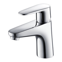 Fresca - Fresca Diveria Single Hole Mount Bathroom Vanity Faucet - This single hole faucet is made from heavy duty brass with a chrome finish. Features ceramic mixing valve for longevity and watertight functionality.