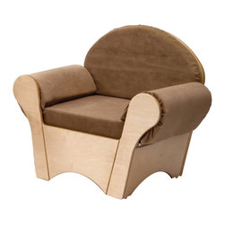 """Whitneybrothers - Whitney Brothers Kids' Easy Cushion Chair, Tan - Practical and plush, the chairs sturdy hardwood frame is strong and its textured fabric is soft and durable. A great reading spot and relaxing area for the little person looking for some quiet time.Dimension: 24 1/2"""" wide x22"""" high x17"""" deep. Weight:32 lbs. FEDExor UPS. GreenGuard certified. Made in USA. Lifetime Warranty."""