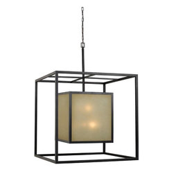 World Imports - Hilden 12-Light Square Hanging Pendant, Aged Bronze - Aged Bronze finish