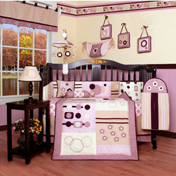 "Geenny - Boutique Baby Girl Artist 13 Piece Crib Bedding Set - This listing is for a 13 piece beautiful Geenny brand new crib set with all the bundle you will need. This set is made to fit all standard cribs and toddler beds. The whole set comes with 10 pieces plus 3 new wall art decor hangings, which comes out as a total 13 piece bundle. The set is made by Geenny Designs, well known as Nursery Series Products Designs. All bundled pieces are in a brand new zippered, handled carrying bag. Dress up and decorate your baby's room with this beautiful 13 piece crib bedding set. Features: -Set includes: Crib quilt, two valances, skirt, crib sheet, bumper, diaper stacker, toy bag, two pillows, three wall hangings. -Material: 65 / 35 Percent of Polyester / Cotton. -Crib quilt: 45"" H x 36"" W. -Crib bumper: 10"" W x 158"" D. -Fitted crib sheet: 52"" H x 28"" W. -Window valances: 16"" H x 58"" W. -Crib skirt: 28"" H x 52"" W. -Toy bag: 20"" H x 14"" W. -Decorative accent pillows: 10"" H x 10"" W. -Machine washable."