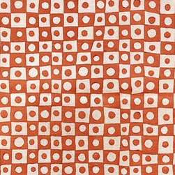 Circles Fabric by Galbraith & Paul - This fun fabric plays with imperfect shapes, making it at once modern and eclectic. Whatever you call it, it's full of personality and movement.