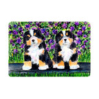 Caroline's Treasures - Bernese Mountain Dog Kitchen or Bath Mat 20 x 30 - Kitchen or Bath Comfort Floor Mat This mat is 20 inch by 30 inch. Comfort Mat / Carpet / Rug that is Made and Printed in the USA. A foam cushion is attached to the bottom of the mat for comfort when standing. The mat has been permanently dyed for moderate traffic. Durable and fade resistant. The back of the mat is rubber backed to keep the mat from slipping on a smooth floor. Use pressure and water from garden hose or power washer to clean the mat. Vacuuming only with the hard wood floor setting, as to not pull up the knap of the felt. Avoid soap or cleaner that produces suds when cleaning. It will be difficult to get the suds out of the mat.