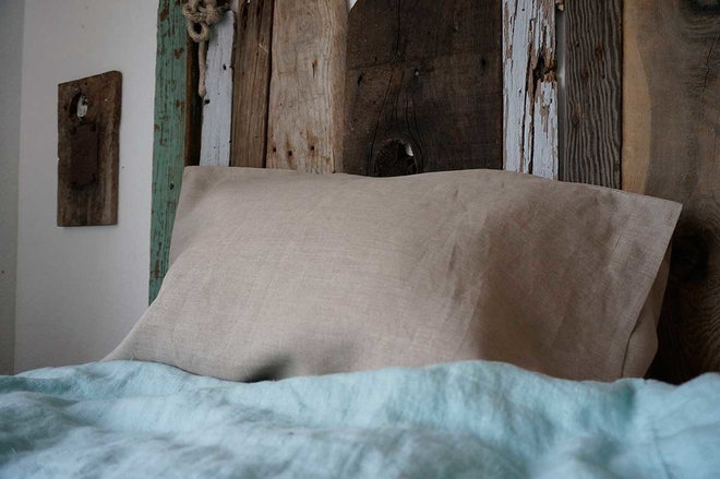 Traditional Bed Pillows And Pillowcases by Rough Linen