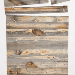 Stikwood Wall Covering, Neutral - I like the idea of peel-and-stick wood planks as a wall covering. I imagine they would be easier to install than wallpaper.