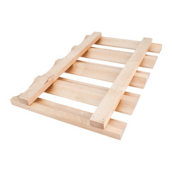 Hardware Resources - Stemware Rack30 x 12 x 1 1/2:Alder.Includes 4pcs #6 x 1 Phillips wood screws - Stemware Rack.  30 x 12 x 1 1/2.  Species:  Alder.  Includes 4pcs #6 x 1 Phillips wood screws.