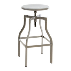 Great deal furniture izzy steel adjustable swivel stool - Bright colored bar stools ...