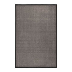 Safavieh - Natural Fiber Rug in Charcoal (8 ft. x 5 ft.) - Size: 8 ft. x 5 ft. Traditional style. Power loomed. Soft and durable. Made from sisal. Made in India. This densely woven rug will add a warm accent and feel to any home. The natural latex backing adds durability and helps hold the rug in place. Care Instructions: Vacuum regularly. Brushless attachment is recommended. Avoid direct and continuous exposure to sunlight. Do not pull loose ends; clip them with scissors to remove. Remove spills immediately; blot with clean cloth by pressing firmly around the spill to absorb as much as possible. For hard-to-remove stains professional rug cleaning is recommended.
