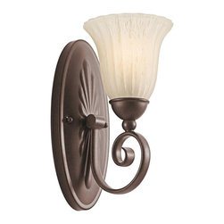 Kichler Lighting - Kichler Lighting - 5926TZ - Willow More - One Light Wall Sconce - Willow more is the name of a small trading village located in the Eastern Cape of South Africa. Much like that community, this beautiful family, with its inviting earth tones is a comfortable and vivid sight to behold. The rich luster of our Tannery Bronze finish and distressed umber etched glass add a distinct ambiance to your home.