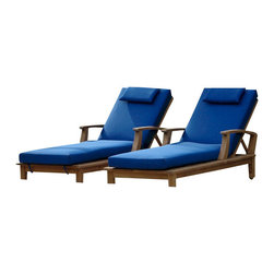 "Anderson Teak - Brianna Sun Lounger with Arm - Our most popular piece, the Sun Lounger has been called by some, ""The most comfortable Sun Lounger they have ever relaxed in."" Perfect for poolside reading in the sun. This Sun Lounger adjusts to four different positions, including completely flat. With its solid teak wheels, it can be easily moved in or out of the sun. Cushion option includes headrest and is made to order. Cushion welting is also optional."
