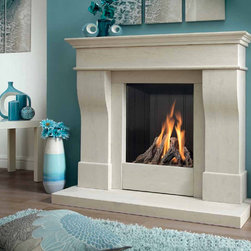 Kinder Avelli Gas Fireplace Suite - The Kinder Avelli gas fireplace suite is small in size but big in style and is suitable for installation in a standard brick chimney or pre-fabricated flue