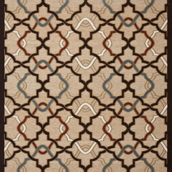 "Concord Global - Concord Global Milano Diamonds Beige Beige Contemporary 6'7"" x 9'3"" Rug (56415) - This collection has a broad range of contemporary to traditional patterns. Made of soft olefin and chenille yarns giving the designs a unique texture and feel. Constructed with the latest colors in fashion, Milano will fit with any d�cor in a room or an office."