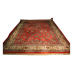 1800-Get-A-Rug - Old Persian Sarouk Hand Knotted Rug Red Mint Cond Sh8486 - About Persian