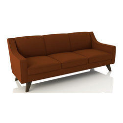 Zavis Sofa (Eco-Friendly) - Midcentury style eco-friendly sofa that is made with 100% alder wood, all natural latex and eco wool, and comes in a large variety of natural or recycled fabrics. It's made in Los Angeles, and is natural from the inside out with no use of chemicals or fire retardants.