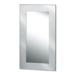 Blomus - Muro Stainless Steel Mirror - Rectangular in shape. Bevel glass. Made of stainless steel. 1-Year manufacturer's defect warranty. 25.68 in. L x 45.43 in. W