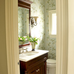 traditional powder room by Homestead Kitchens