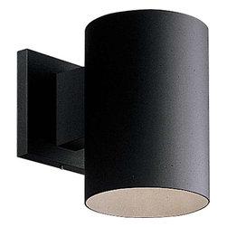 Progress Lighting - Progress Lighting P5674-31 Cylinder 1 Light Outdoor Wall Light In Black - Progress Lighting P5674-31 Cylinder 1 Light Outdoor Wall Light In Black