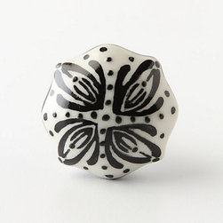 Lisbon Knob - These little hand painted knobs pack a fancy little punch. Put them on the doors of your bathroom vanity sink or dress up your boring-looking pantry cupboard.