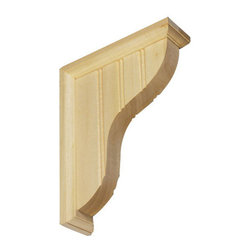 Moldings, Trim & Brackets - Wainscoat Bracket: Create custom shelves quickly and easily with these Wainscoat shelf brackets. Brackets are unfinished and come with the mounting hardware.