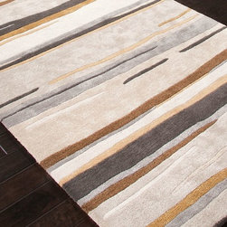 Jaipur - Contemporary Baroque 2'x3' Rectangle Classic Gray Area Rug - The Baroque area rug Collection offers an affordable assortment of Contemporary stylings. Baroque features a blend of natural Classic Gray color. Hand Tufted of 70% Wool & 30% Art Silk the Baroque Collection is an intriguing compliment to any decor.