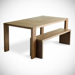 Gus - Plank Dining Table - Plank Dining Table and Bench by Gus Modern