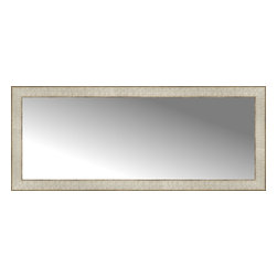 """Posters 2 Prints, LLC - 44"""" x 18"""" Libretto Antique Silver Custom Framed Mirror - 44"""" x 18"""" Custom Framed Mirror made by Posters 2 Prints. Standard glass with unrivaled selection of crafted mirror frames.  Protected with category II safety backing to keep glass fragments together should the mirror be accidentally broken.  Safe arrival guaranteed.  Made in the United States of America"""