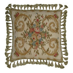 """EuroLux Home - New 22""""x22"""" Throw Pillow Flourishes - Product Details"""