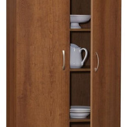 "Ameriwood - 72"" Pantry in Inspire Cherry Finish - Color/Finish: Inspire Cherry. Material ..."