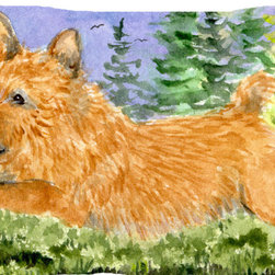 Caroline's Treasures - Norwich Terrier Fabric Standard Pillowcase Moisture Wicking Material - Standard White on back with artwork on the front of the pillowcase, 20.5 in w x 30 in. Nice jersy knit Moisture wicking material that wicks the moisture away from the head like a sports fabric (similar to Nike or Under Armour), breathable performance fabric makes for a nice sleeping experience and shows quality. Wash cold and dry medium. Fabric even gets softer as you wash it. No ironing required.