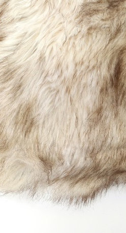 """Best Home Fashions - Faux Fur Pillow by Wild Mannered - 24"""""""" x 24"""""""" - Champagne Fox - Champagne Fox"""