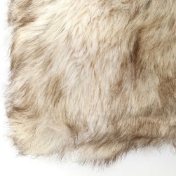 "Best Home Fashions - Faux Fur Pillow by Wild Mannered - 24"""" x 24"""" - Champagne Fox - Champagne Fox"