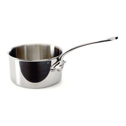 Mauviel - Mauviel M'cook Stainless Steel Saucepan, Cast Stainless Steel Handle, 2.7 qt. - 5 ply Construction - High performance cookware, works on all cooking surfaces, including induction.