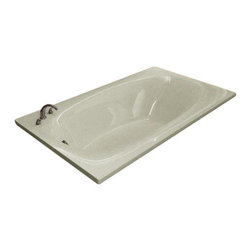 Spa World Corp - Atlantis Tubs 3666P Polaris 36x66x23 Inch Rectangular Soaking Bathtub - The Polaris series features a blend of oval and rectangular construction and molded armrests. Soft surround curves of the interior provide soothing comfort to your bathing experience. The narrow width of the Polaris bathtubs' edge adds additional space.  Soaking bathtubs are a more traditional style bath tub without water or air systems.  Soaking in warm water will sooth the body, boost cardiac output, lower blood pressure and improve circulation.  Water also hydrates the skin and helps pores eliminate toxins.  Drop-In tubs have a finished rim designed to drop into a deck or custom surround.  They can be installed in a variety of ways like corners, peninsulas, islands, recesses or sunk into the floor.  A drop in bath is supported from below and has a self rimming edge that is designed to sit over a frame topped with a tile or other water resistant material.  The trim is featured in white to color match the tub