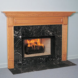 Crestwood Wood Fireplace Mantel - The Crestwood wood fireplace mantel is a classic American mantel and is available in both standard and custom sizes. Additionally, the mantel is easy-to-install with just a few tools and limited skills required.  - Mantels Direct