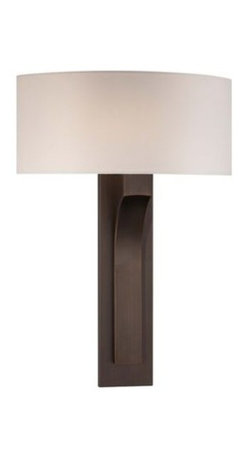 Copper Bronze with White Shade George Kovacs Wall Sconce -