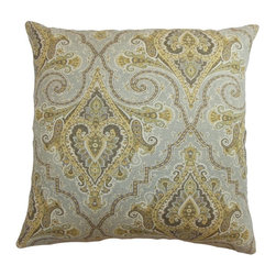 Pillow Collection - The Pillow Collection Iberia Paisley Pillow - P18-42179-BLUEGOLD-C100 - Shop for Pillows from Hayneedle.com! Strut your stuff like a peacock with the colorful and handsome design of The Pillow Collection Iberia Paisley Pillow. Made of 100% high-quality cotton this elegant square pillow features a plush 95/5 feather/down insert for a luxurious soft feeling. The bold and graceful style of the traditional paisley print is available in a variety of color options so you can get the look that's just right for you.About The Pillow CollectionIdentical twin brothers Adam and Kyle started The Pillow Collection with a simple objective. They wanted to create an extensive selection of beautiful and affordable throw pillows. Their father is a renowned interior designer and they developed a deep appreciation of style from him. They hand select all fabrics to find the perfect cottons linens damasks and silks in a variety of colors patterns and designs. Standard features include hidden full-length zippers and luxurious high polyester fiber or down blended inserts. At The Pillow Collection they know that a throw pillow makes a room.