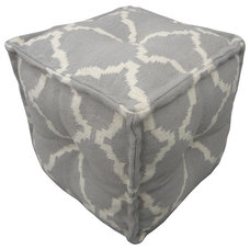 Eclectic Ottomans And Cubes by Indeed Decor