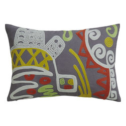"acosta 18""x12"" pillow with down-alternative insert -"