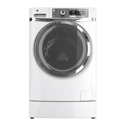 GE - GFWR4800FWW RightHeight 4.8 Cu. Ft. Front Load Washer  with Quiet-By-Design Soun - 48 Cu Ft Front Load Washer with Quiet-By-Design Sound Insulation Stainless Steel Drum and Energy Star