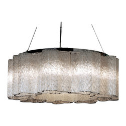 Trend Lighting - Pantages 9-Light Chandelier - Bring dazzle and drama to your decor every time you turn on the light. This fabulous fixture — no way your grandmother's chandelier — creates the effect of a silvery shower while illuminating your favorite setting.