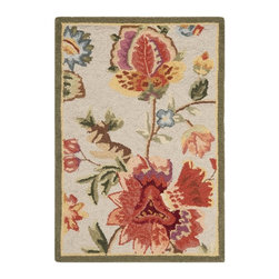 Safavieh - Safavieh Chelsea Country & Floral Hand Hooked Wool Rug X-212-C133KH - 100% pure virgin wool pile, hand-hooked to a durable Cotton backing. American Country and turn-of-the-century European designs. This collection is handmade in China exclusively for Safavieh.