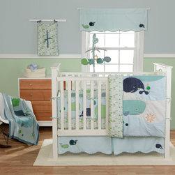 Bananafish - MiGi Little Whale 3-Piece Crib Bedding Set - MiGi Little Whale 4-Piece Crib Bedding Set
