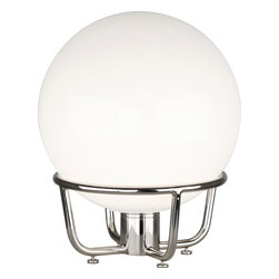 Robert Abbey - Rico Espinet Buster Globe Table Lamp, Nickel/White - -1-100W Max.