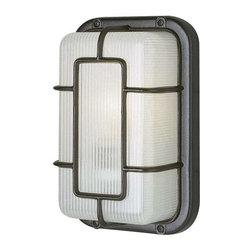 Trans Globe Lighting - Trans Globe Lighting PL-41101 BK Outdoor Bulkhead Light In Black - Part Number: PL-41101 BK