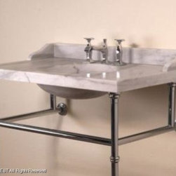 Stone_Forest - Stone Forest -3Pc Splash Set Only 27 In Vintage Basin-C90-27SK-SPST CA - Carrara Marble Finish - Dimensions: 27 Inch W x 8 Inch D x 3 Inch H