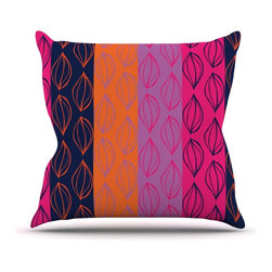 """Kess InHouse - Anneline Sophia """"Tropical Seeds"""" Pink Orange Throw Pillow (18"""" x 18"""") - Rest among the art you love. Transform your hang out room into a hip gallery, that's also comfortable. With this pillow you can create an environment that reflects your unique style. It's amazing what a throw pillow can do to complete a room. (Kess InHouse is not responsible for pillow fighting that may occur as the result of creative stimulation)."""