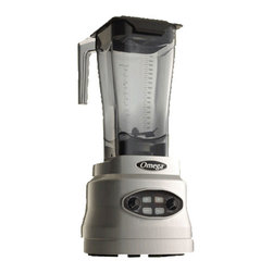 OMEGA PRODUCTS INC. - Omega BL600 Series Three HP Variable Speed Blender, Silver - Omega BL600 Series Three HP Variable Speed Blender has touch pad and variable controls for precision blending. This three horsepower blender has infinity function for the perfect blend. Its commercial construction paired with its precision controls makes this blender the perfect tool for home or professional use.