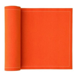 MYdrap - Cotton Dinner Napkin, Orange - These cotton dinner napkins-on-a-roll are a brilliant compromise between disposable, wasteful paper napkins and nice cloth napkins that require extra laundry. Casual enough for an informal family dinner but more substantial and softer than paper, they can be washed and reused up to six times or discarded after one use. They are bigger and thicker than the average disposable napkins and come 12 to a roll.